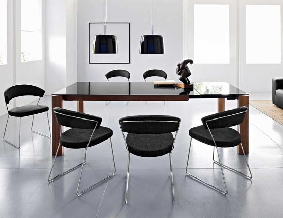 Calligaris Omnia Glass: il tavolo in legno e vetro perfetto per il ...