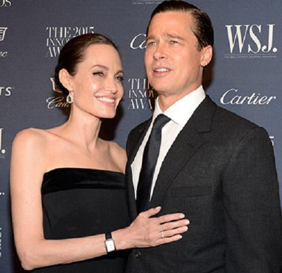 Angelina Jolie e Brad Pitt.WSJ. Magazine Innovator Award 2015.